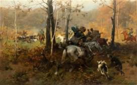 Brandt Józef, Hunting, circa 1890