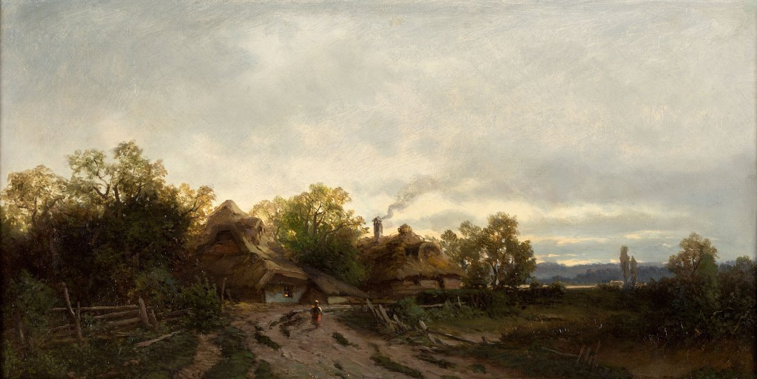 Sidorowicz Zygmunt , Landscape with huts