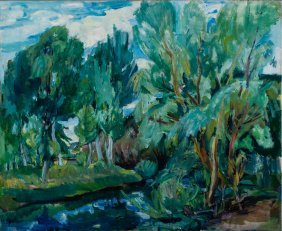 Lanscape With Trees, Ca. 1935-1940