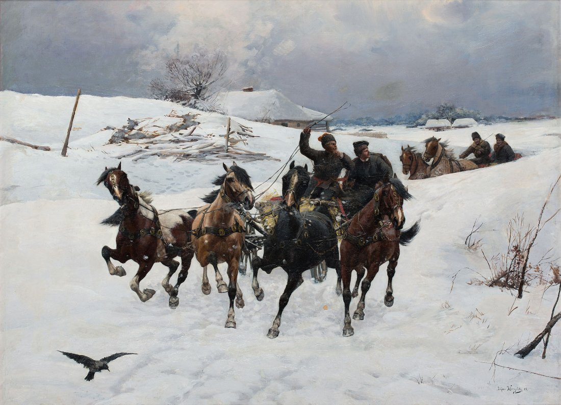 Winterly cart, 1888