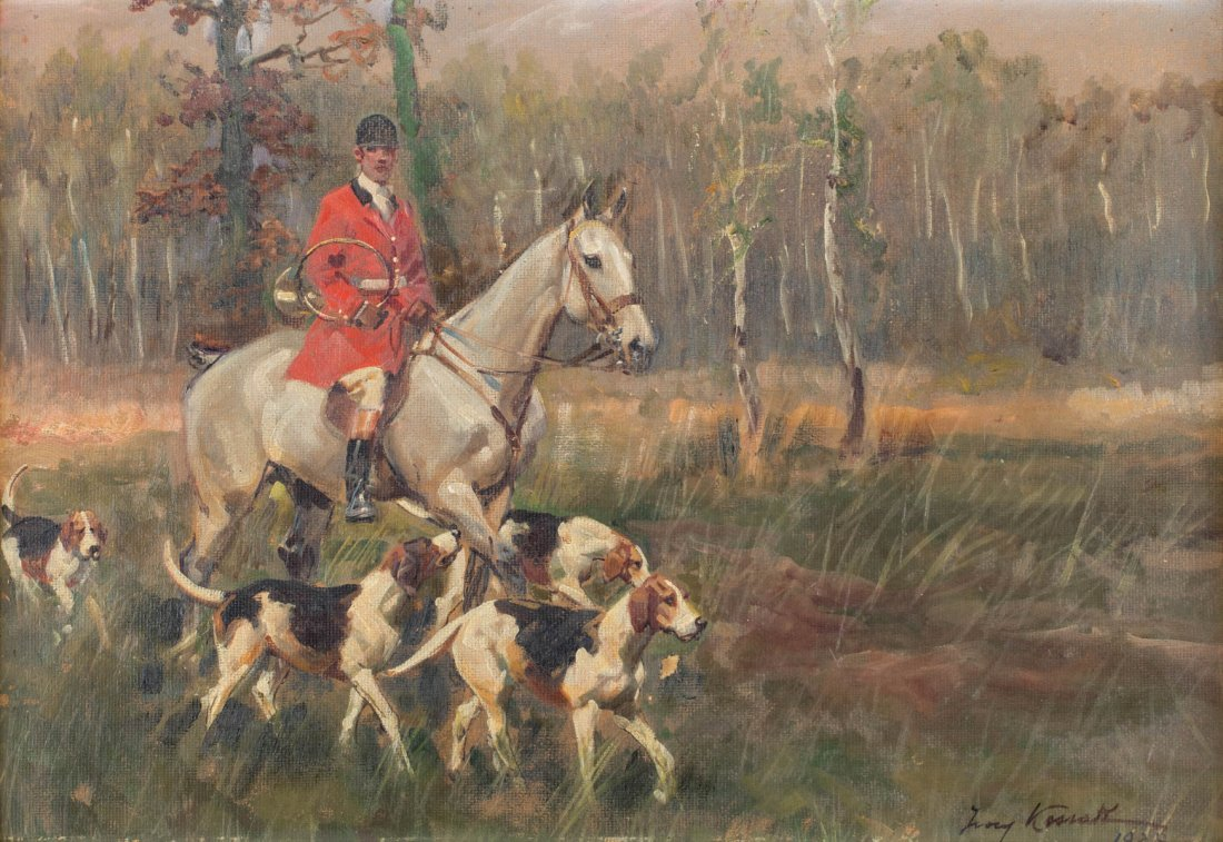 On the hunt, 1928