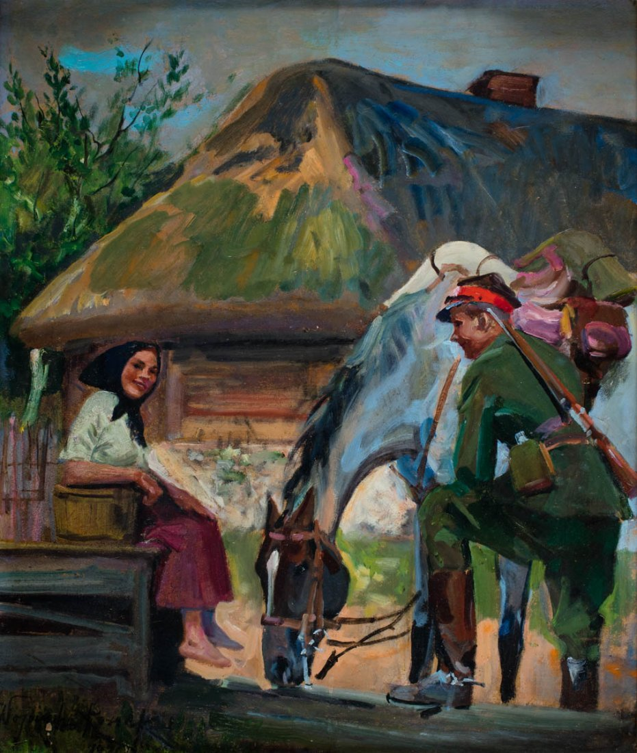 By the well, 1911