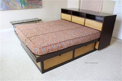 Wormley for Dunbar Rare Custom Queen Platform Bed