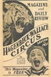 1931 Hagenbeck-Wallace Circus program
