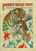 1933 Hagenbeck-Wallace Circus program