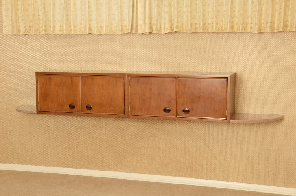 Wormley Floating Wall Cabinet w/ Rosewood Handles