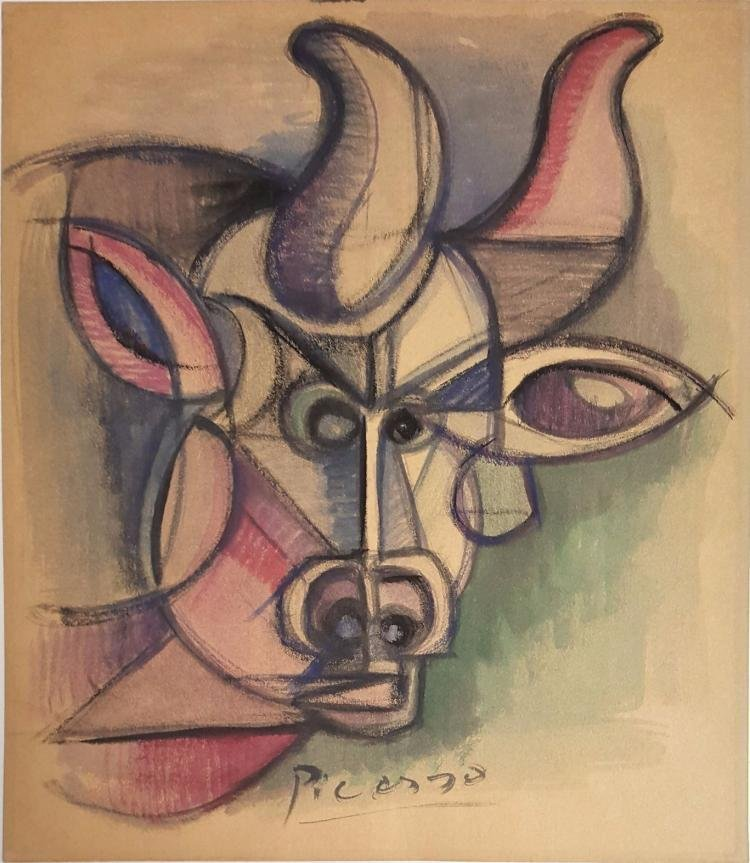 "ATTRIB of ""Toro"" by Pablo Picasso"