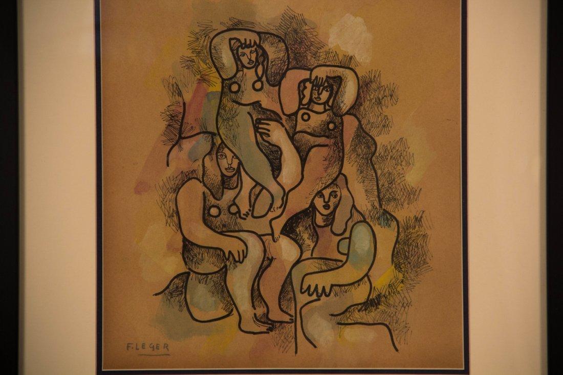 """ATTRIB of """"Untitled"""" by  Fernand Leger"""
