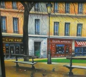 Restaurant Front Street Scene