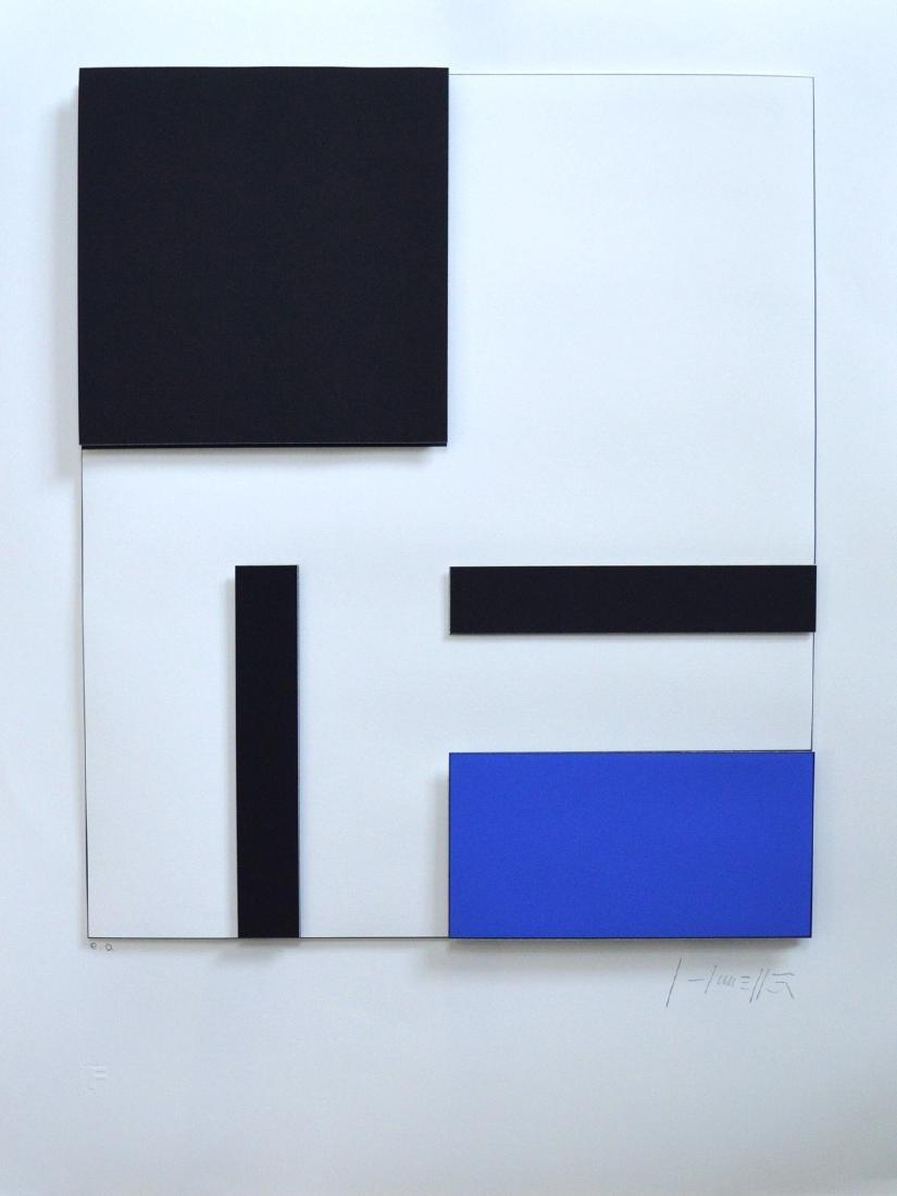 """""""Concrete Composition in Blue"""" Gottfried Honegger"""