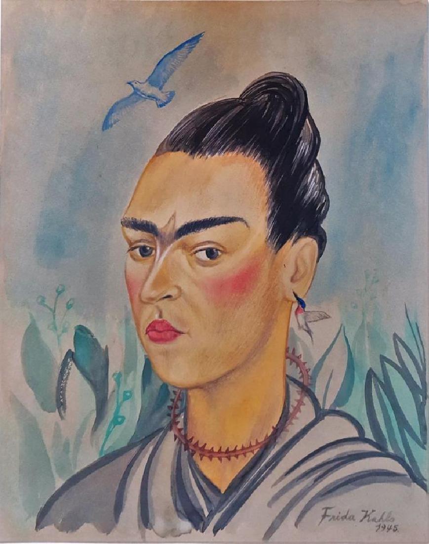 """ATTRIB of""""Self Portrait"""" by Frida Kahlo"""