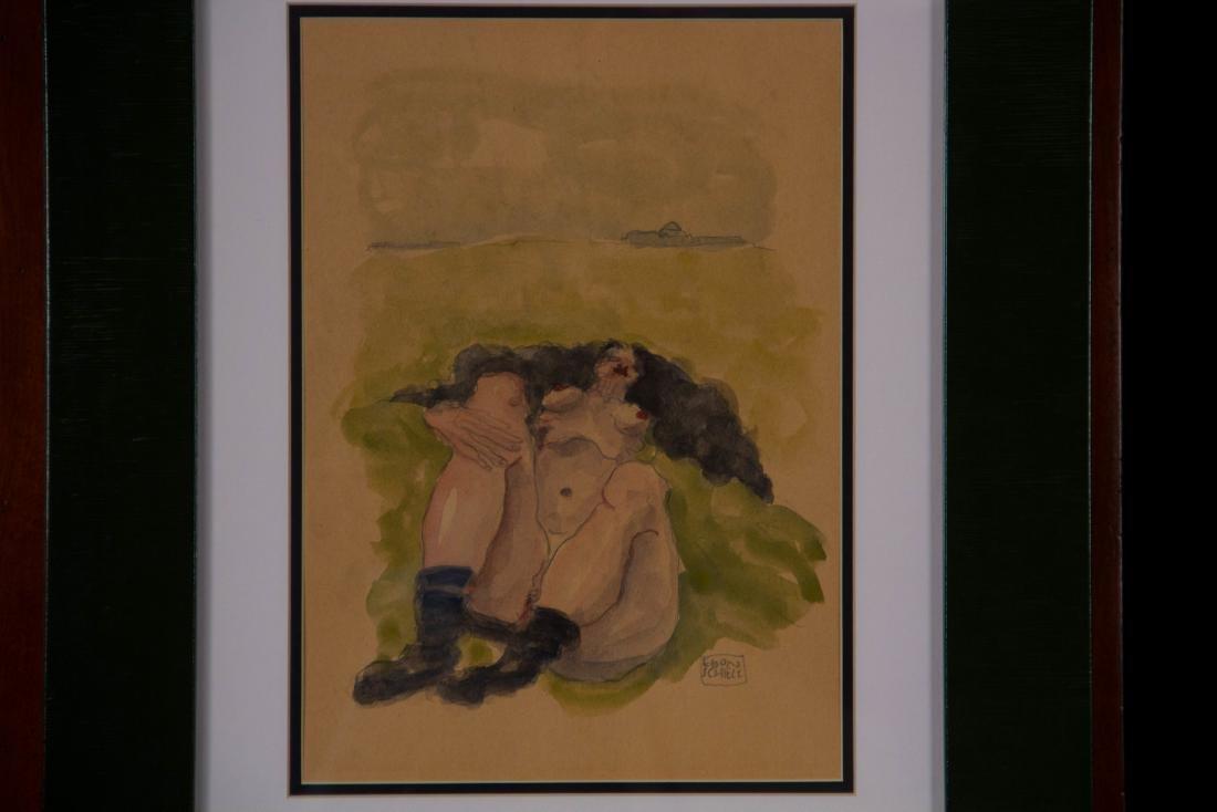 """ATTRIB of """"Laying Female"""" by Egon Schiele"""