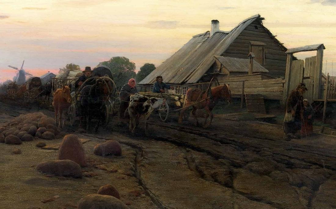 Road to Reval (c. 1890) Oil on canvas - 3