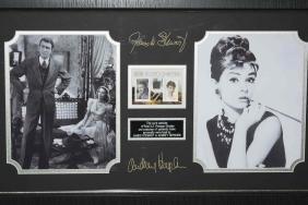 Audrey Hepburn & James Stewart Stamps & Clothing