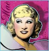 Portrait of Mae West 16x16'' (2005) by David Edward