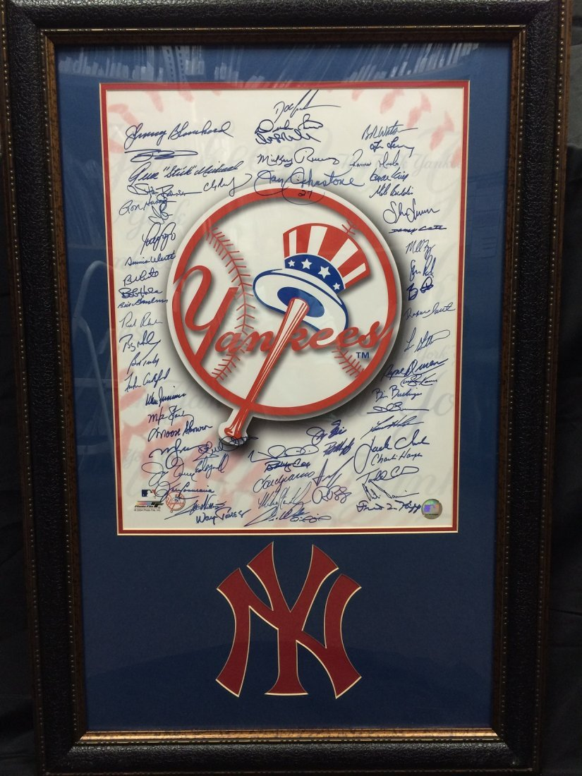 Yankees Logo Photo Signed by 60+ Former Yankees