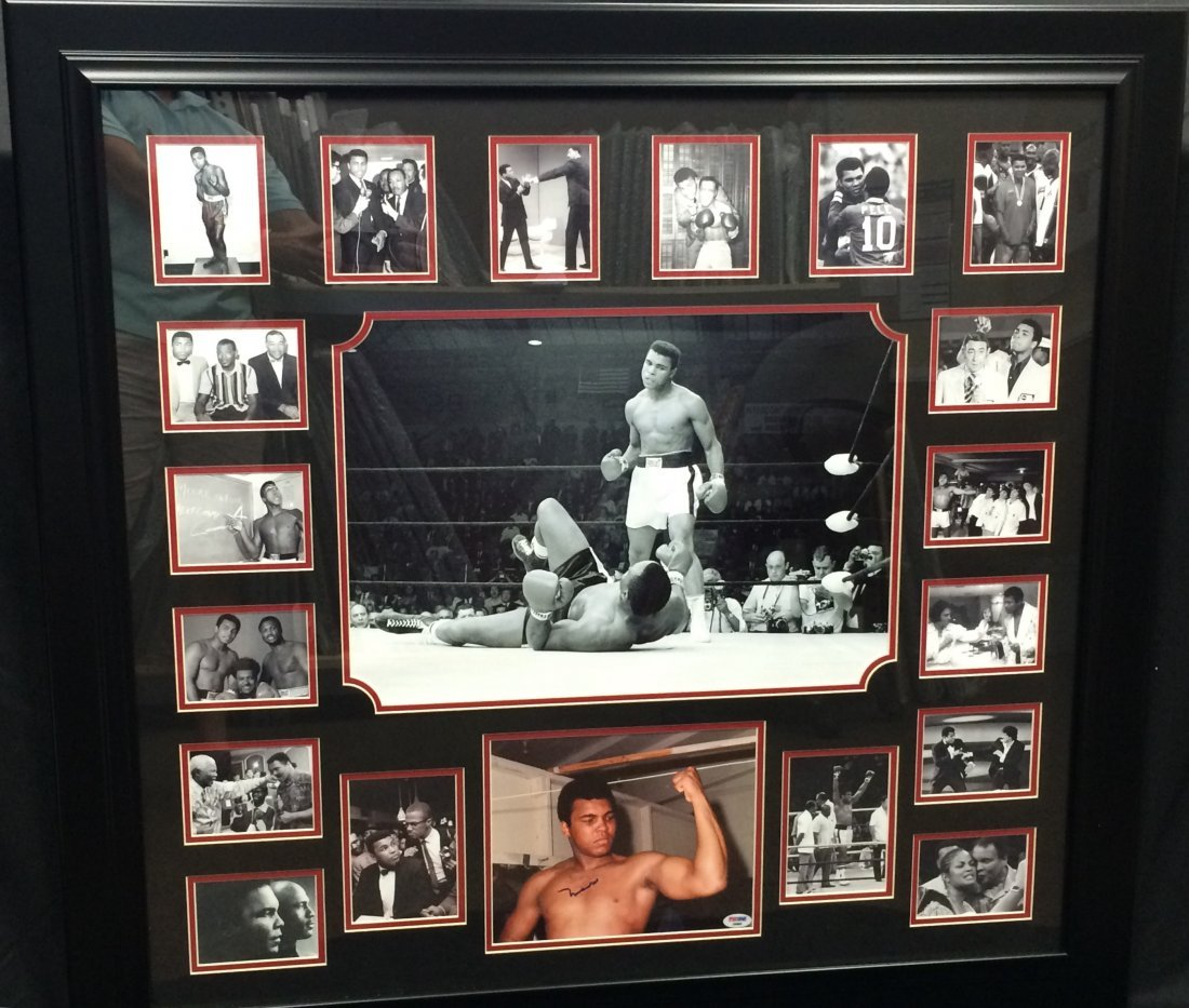 Muhammad Ali Signed Photo w/ Collage of VIP Photos