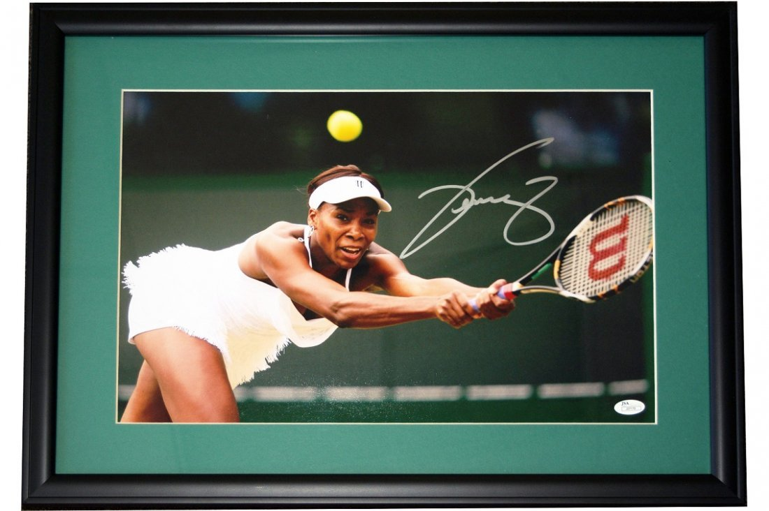 Venus Williams Signed & Framed Photo
