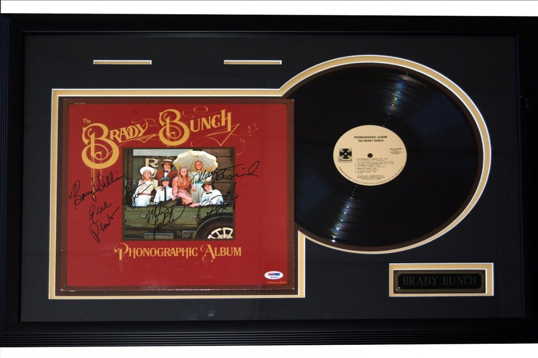 "Brady Bunch Signed ""Phonographic Album"" Display"