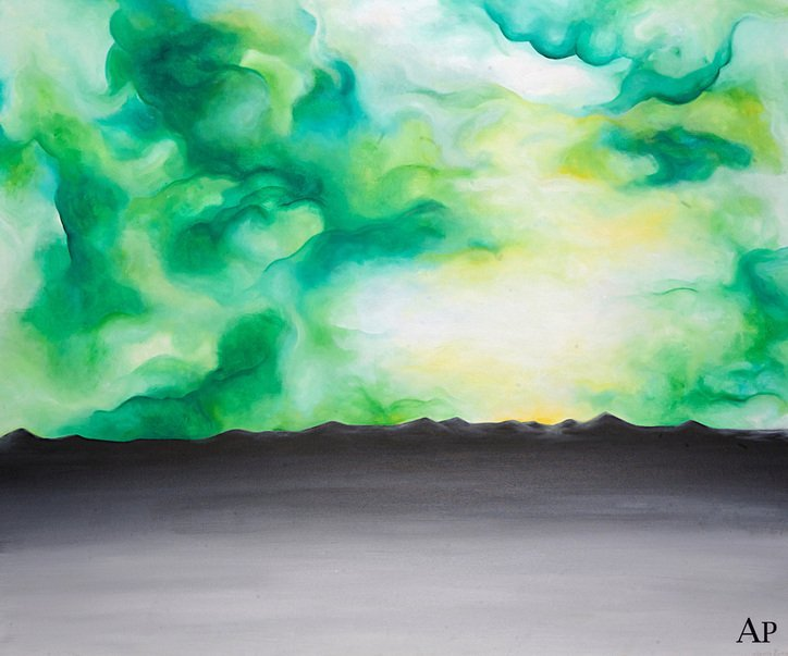 """Green Sky"" (2015) by Alexandra Pedraza"