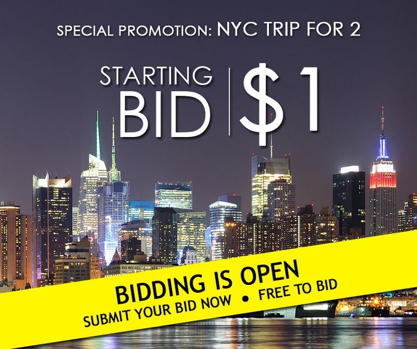 TRIP FOR 2 TO NYC *No Reserve!*