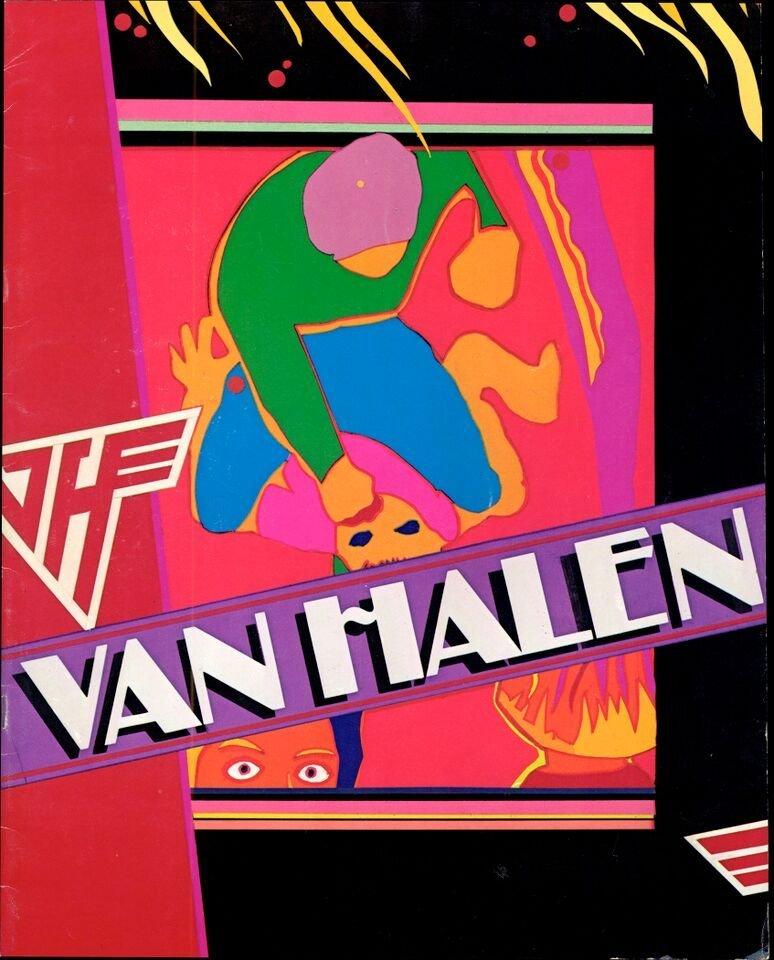 """Van Halen 'Fair Warning' Tour book"" (1981)"