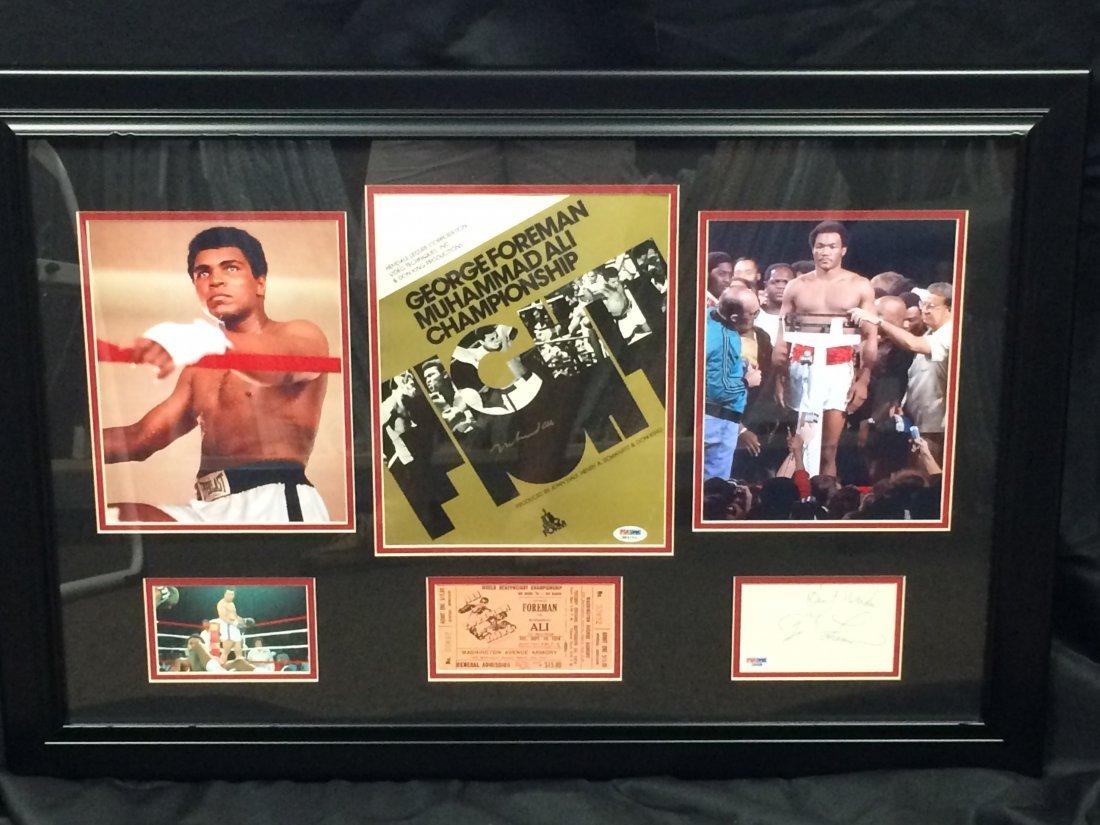 Muhammad Ali vs George Foreman Signed Program & More!