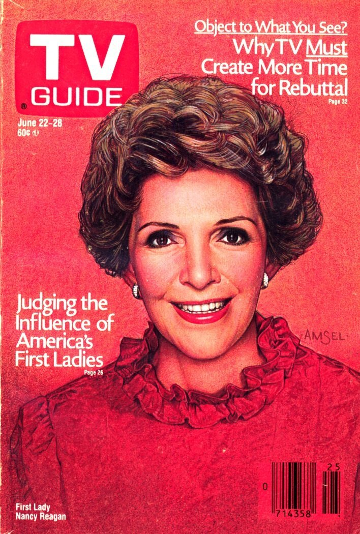 """""""First Lady Nancy Reagan"""" TV Guide cover (1987)"""