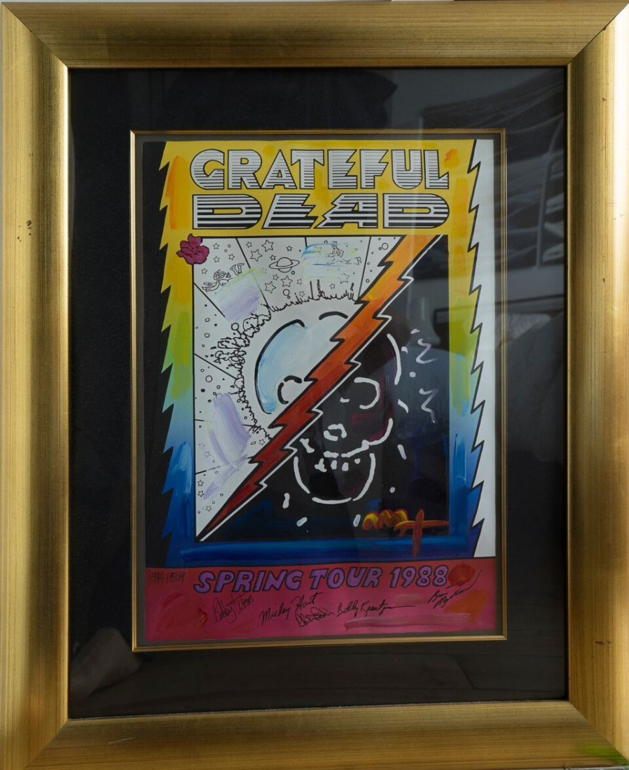 Grateful Dead, Spring Tour 1988 Poster Signed