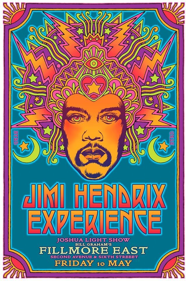 """""""First Concept for The Jimi Hendrix Experience at the"""