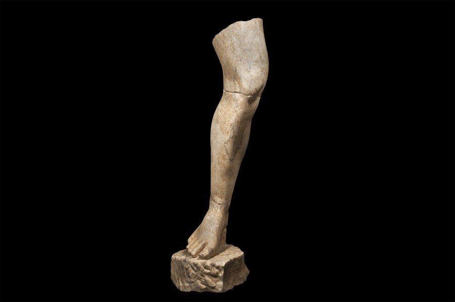 """Life Size Right Leg of an Athlete"" (c. 100 C.E.)"