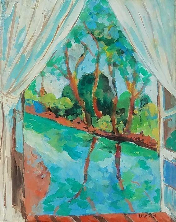 """""""Open Window Riverbank"""" by Henri Matisse"""