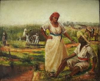 "Eduardo Morales,""Corte de Caña"", Cuba,c.1900"