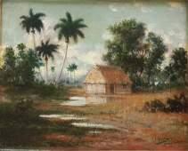 """Juan Gil Garcia,""""Paisaje"""",Cuba,c.1900"""
