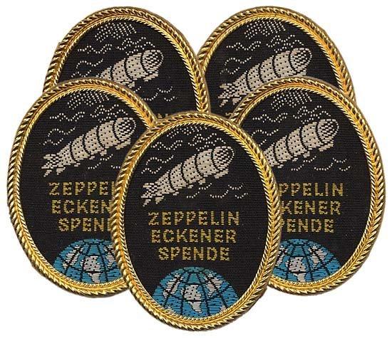 2356: c.1930 ZEPPELIN - CONTRIBUTOR PINS (x5)