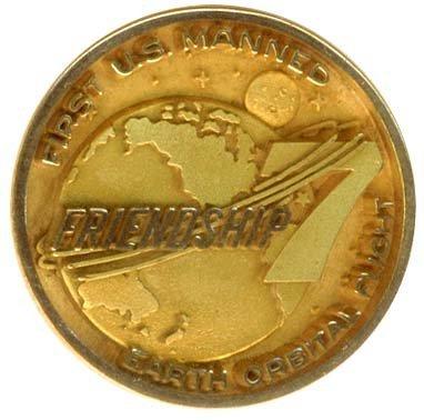 2376: 1962 MA-6 MEDALLION 10kt GOLD