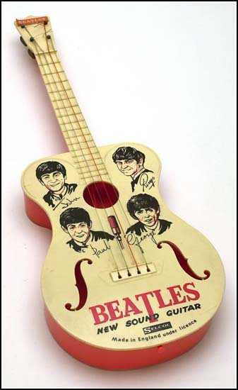 2910 C 1960s Beatles Selcol Toy Guitar