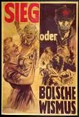 2965: c.1950s WWII GERMAN PROPAGANDA POSTERS