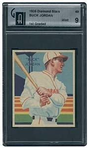 3019: 1935 GRADED DIAMONDSTARS #49 BUCK JORDAN (GAI 9)