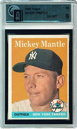 3041: 1958 GRADED TOPPS #150 MICKEY MANTLE (GAI 6)