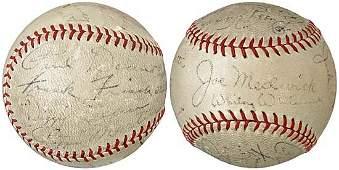 3104: 1934 ST LOUIS CARDINALS TEAM SIGNED BALL