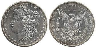 3279: 1889 MORGAN SILVER DOLLAR