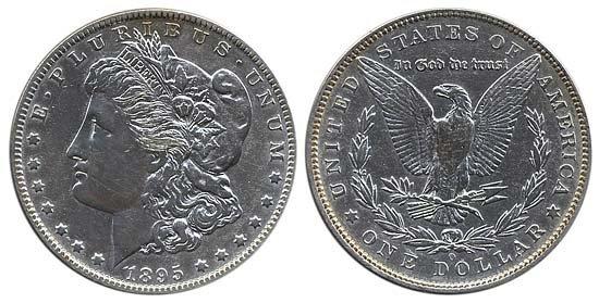 3286: 1895 MORGAN SILVER DOLLAR