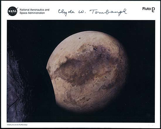 2: 1994 CLYDE W. TOMBAUGH AUTOGRAPHED LITHO