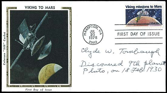 3: 1994 CLYDE W. TOMBAUGH AUTOGRAPHED COVER