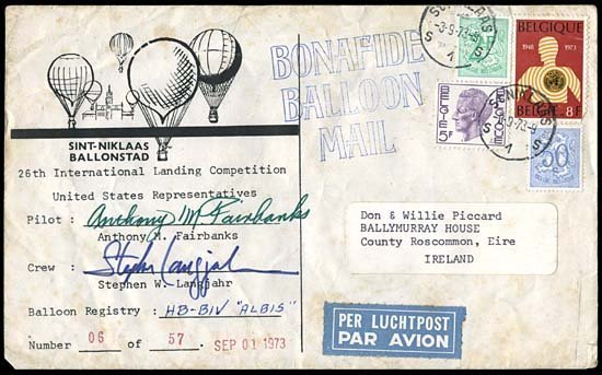 4: FLOWN INT'L LANDING COMPETITION BALLOON COVER