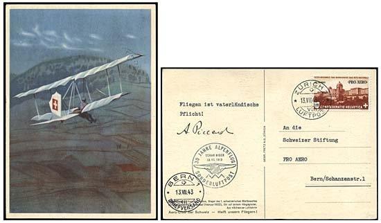 12: 1943 AUGUSTE PICCARD AUTOGRAPH