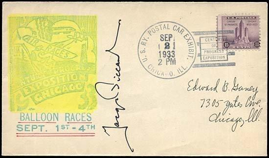 14: 1933 JACQUES PICCARD AUTOGRAPH