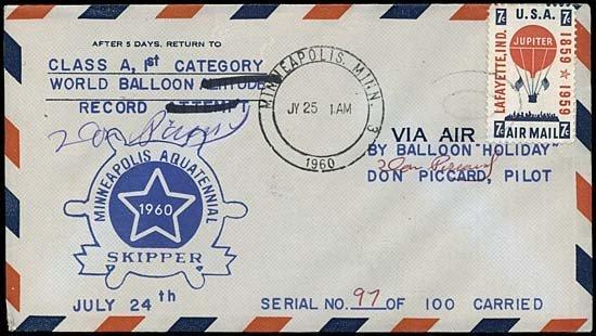 24: 1960 FLOWN MINNEAPOLIS AQUATENNIAL BALLOON FLIGHT