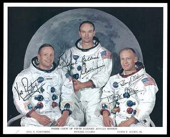396: 1969 ARMSTRONG, COLLINS & ALDRIN AUTOGRAPHS
